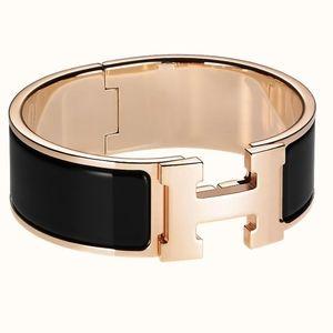 Hermes Rose Gold Clic Clac GM Bracelet